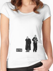 Jay and Silent Bob at the Quick Stop Women's Fitted Scoop T-Shirt