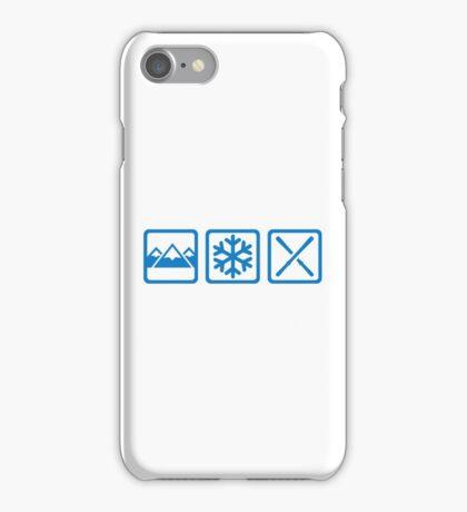 Mountains snow ski iPhone Case/Skin