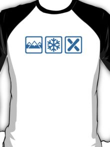 Mountains snow snowboard T-Shirt