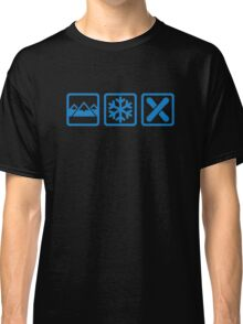Mountains snow snowboard Classic T-Shirt