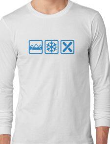 Mountains snow snowboard Long Sleeve T-Shirt