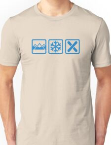 Mountains snow snowboard Unisex T-Shirt