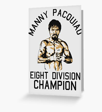 eight division champion Greeting Card
