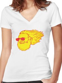 Jerry Flame Women's Fitted V-Neck T-Shirt