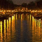 Amsterdam Canal - Oil Painting Effect by Glen Allen