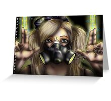 Cyber Goth Killer Greeting Card