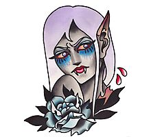White Walker Fey Vampire  Photographic Print