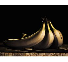 Three Bananas Photographic Print