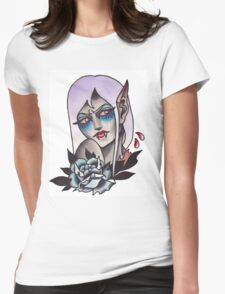 White Walker Fey Vampire  Womens Fitted T-Shirt