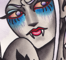 White Walker Fey Vampire  Sticker