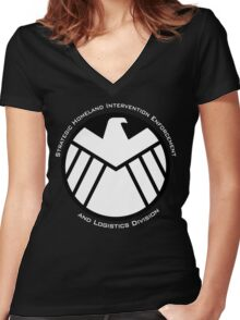 Agent of S.H.I.E.L.D. Women's Fitted V-Neck T-Shirt