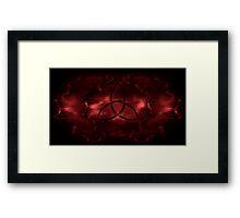 Triquetra Bloody Dark Red Framed Print