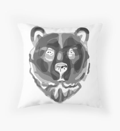 Bear (Negative) Throw Pillow