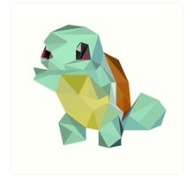 Low Poly - Squirtle  Art Print