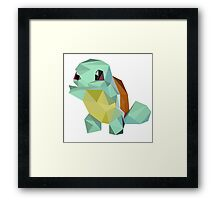 Low Poly - Squirtle  Framed Print