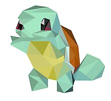 Low Poly - Squirtle  Photographic Print