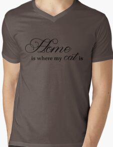 Home Is Where My Cat Is Mens V-Neck T-Shirt