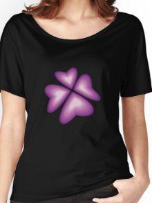 purple heart flower Women's Relaxed Fit T-Shirt