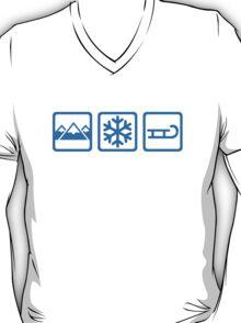 Mountains snow sleigh T-Shirt