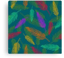 Сolor feathers pattern  Canvas Print