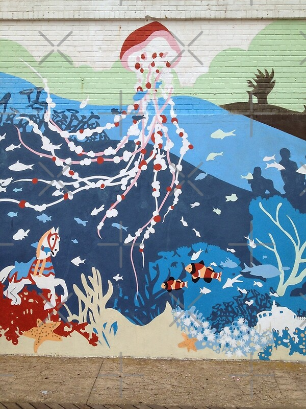 Coney island aquarium mural by jcooper10 redbubble for Coney island mural