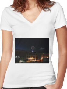 Fireworks Women's Fitted V-Neck T-Shirt