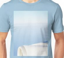 Plane wing in blue sky analogue 35mm film ra-4 darkroom print Unisex T-Shirt