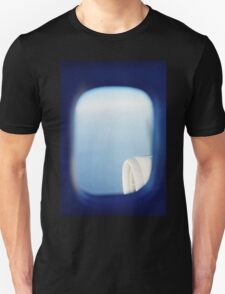 Plane wing in blue sky analogue 35mm film ra-4 darkroom photo T-Shirt