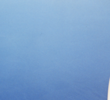 Plane wing in blue sky analogue 35mm film ra-4 darkroom prints Sticker