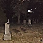 It's Starting To Snow - Cemetery At Night by Jane Neill-Hancock
