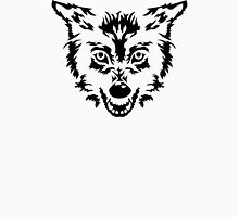 Wolf head face Womens Fitted T-Shirt