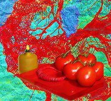 ARTIST 'S LUNCH #2 or ARTIST'S LAUNCH ? by Karo / Caroline Evans (Caux-Evans)