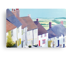 Gold Hill, Shaftsbury. Canvas Print