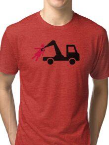 Towing car girl woman Tri-blend T-Shirt