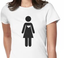 Woman icon Womens Fitted T-Shirt