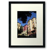 Perugian apartment blocks. Framed Print