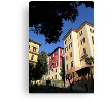 Perugian apartment blocks. Canvas Print