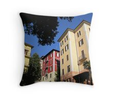 Perugian apartment blocks. Throw Pillow