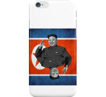 Kim Jong-un Duble with flag iPhone Case/Skin