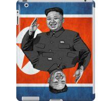 Kim Jong-un Duble with flag iPad Case/Skin