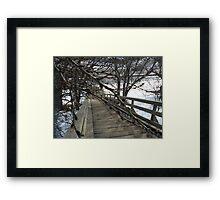 Wooden Stairs in Edmonton Framed Print