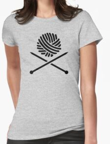 Knitting wool needles Womens Fitted T-Shirt