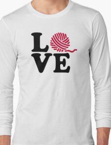 Wool knitting love Long Sleeve T-Shirt