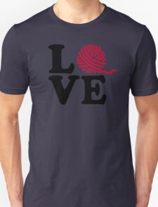 Wool knitting love Unisex T-Shirt