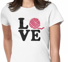 Wool knitting love Womens Fitted T-Shirt