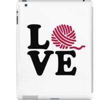 Wool knitting love iPad Case/Skin