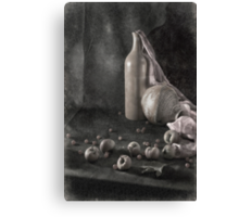 Still Life with apples Canvas Print