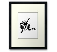 Crochet wool needle Framed Print