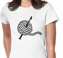 Crochet wool needle Womens Fitted T-Shirt
