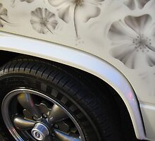 Hibiscus Flowered Volkswagen T25 by Retrophoto